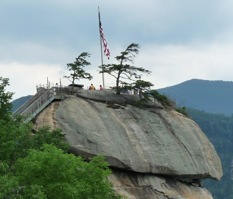 Chimney Rock Closeup