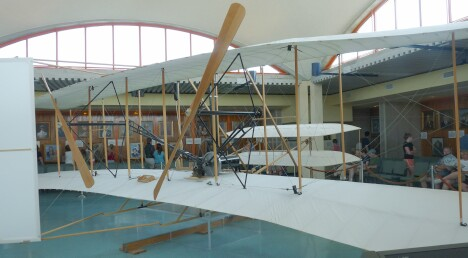 1903 Wright Flyer from the right rear