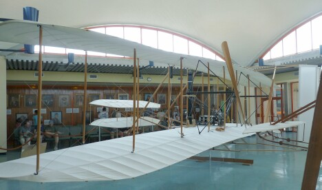 1903 Wright Flyer from the left rear