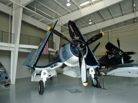 "F4U Corsair of ""Bah, Bah, Black Sheep"" fame"