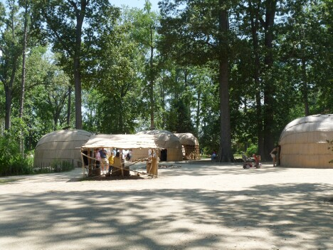 Replica Powhatan Indian Village
