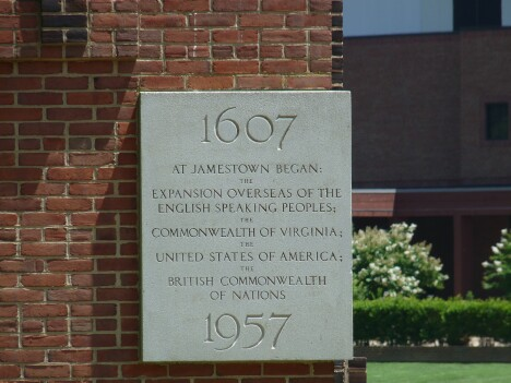 Jamestown Dedication