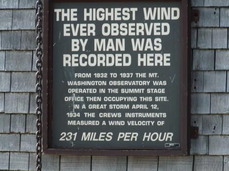 Mt Washington Sign