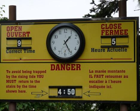 Fundy Warning Sign