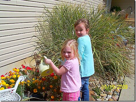 Gwen and Avery Jane Watering