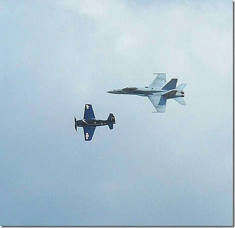 F8F FA-18 Heritage Flight