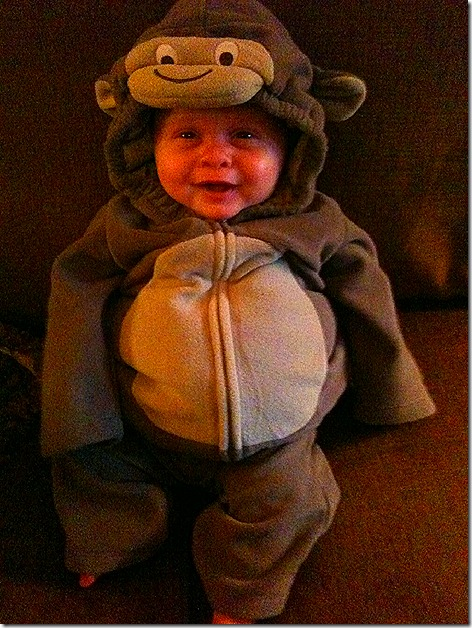 Landon in Monkey Suit