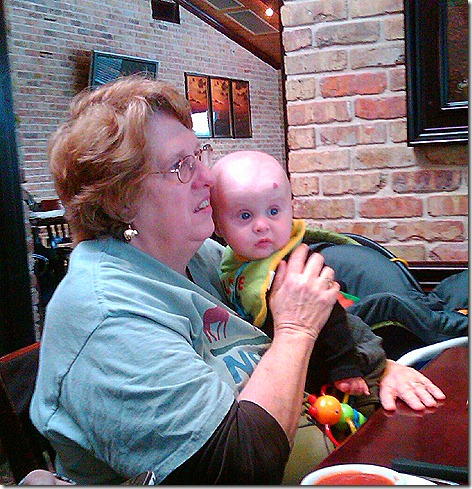 Landon and Jan at Cheddars