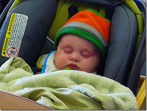 Landon Asleep at King Food