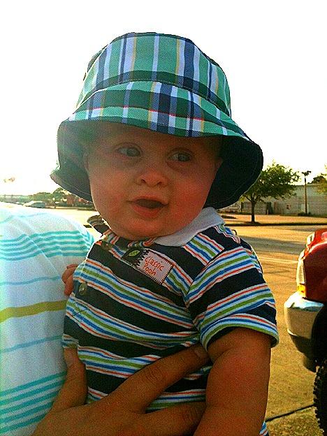 Landon's New Hat 2