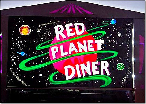 Red Planet Sign