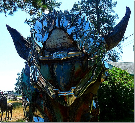 Chrome Buffalo Head