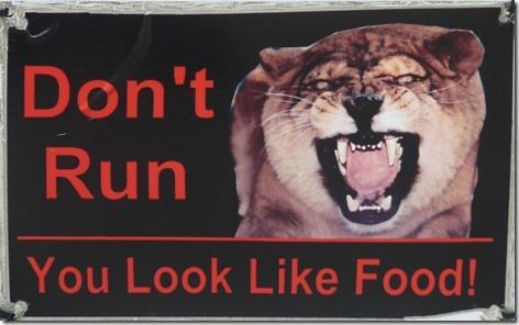 Don't Run Sign