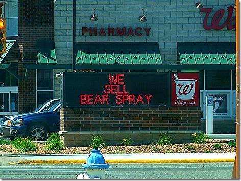 Walgreen's Bear Spray