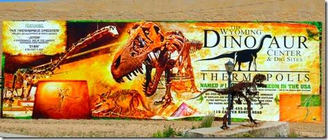 Wyoming Dinosaur Center Sign