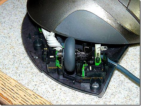 Logitech Trackball Wheel - open