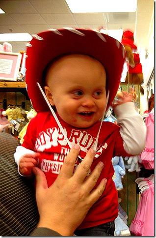 Landon in Cowboy Hat