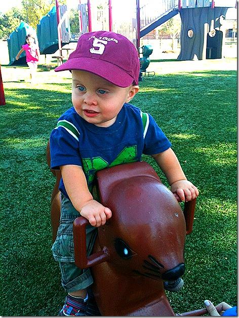 Landon on Horsey