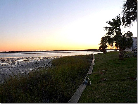 Galveston Bay Mudflat Sunset 1
