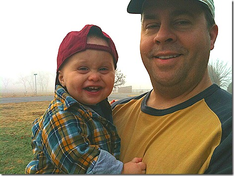 Landon and Dad