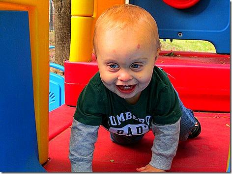Landon at the Park 1