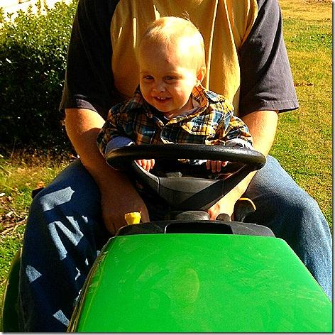 Landon on Tractor 1