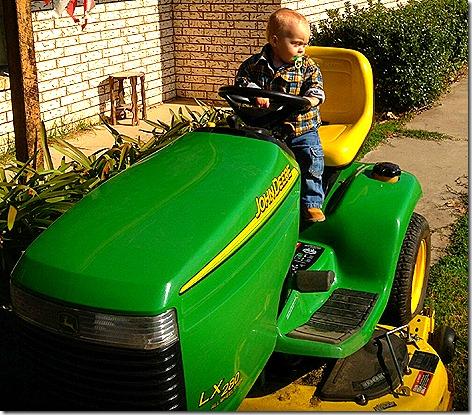 Landon on Tractor 2