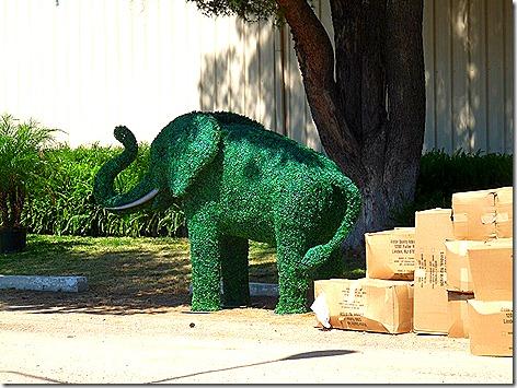 Tucson Fair Green Elephant