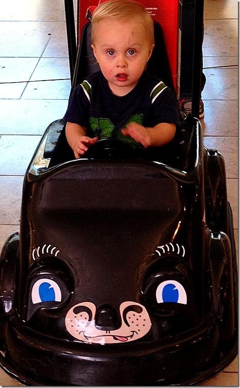 Landon at the Mall