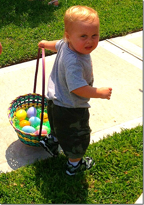 Landon Egg Hunt 1
