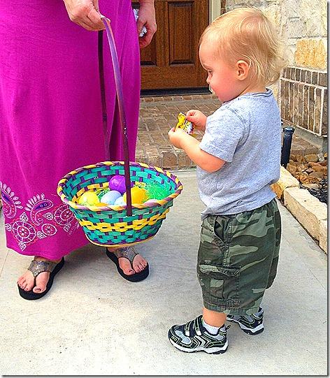 Landon Egg Hunt 2
