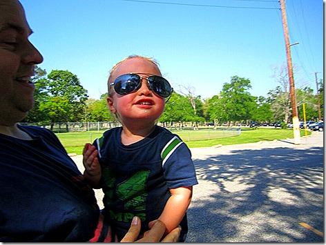 Landon Being Cool