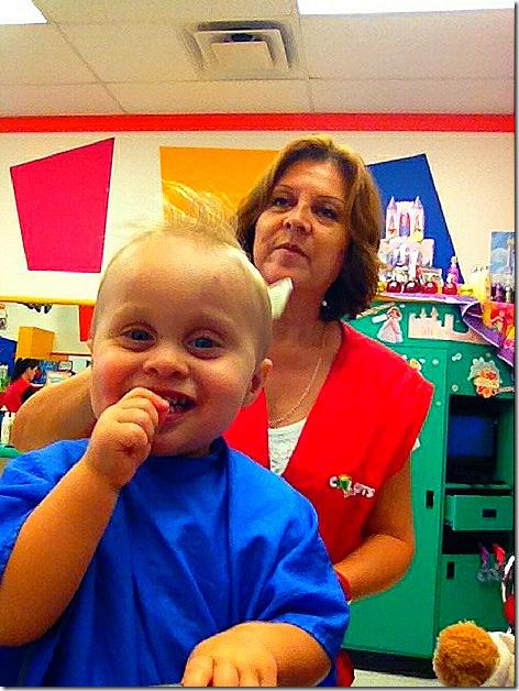 Landon First Haircut 10