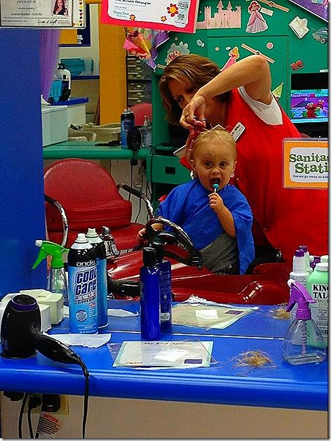 Landon First Haircut 8