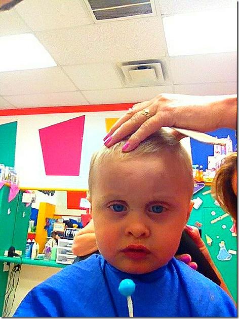 Landon First Haircut 9