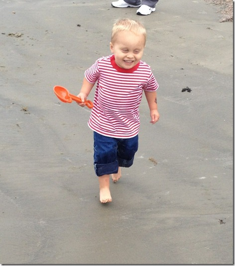 Landon at the Beach 5