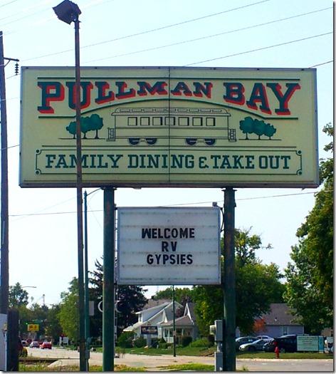 Pullman Bay Sign