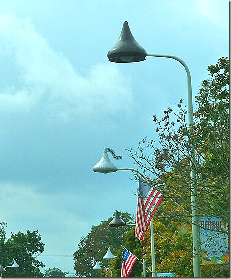 Hershey Kiss Streetlights