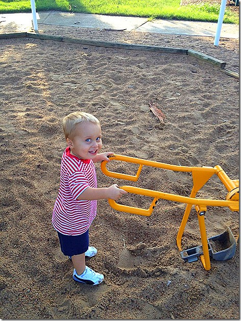 Landon in Sandbox