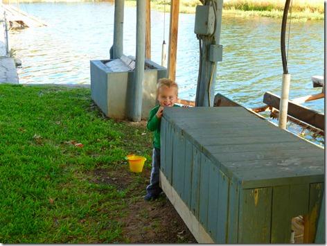 Landon at the Lake 1