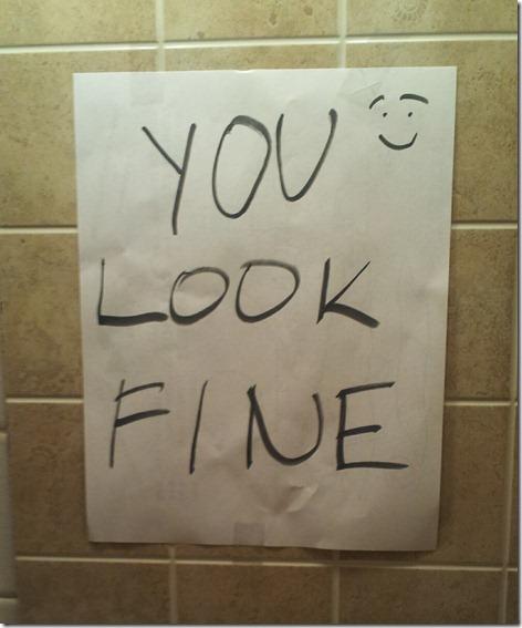You Look Fine Mirror