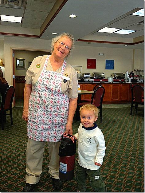 Landon with Grannie in OK