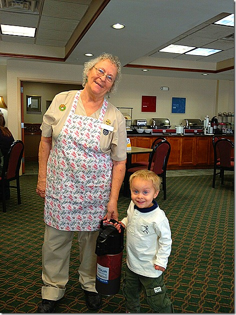 Landon with Grannie in OK