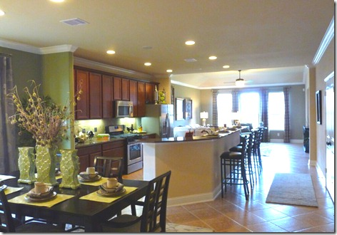 New Home - Dining Rm Kitchen Living Rm