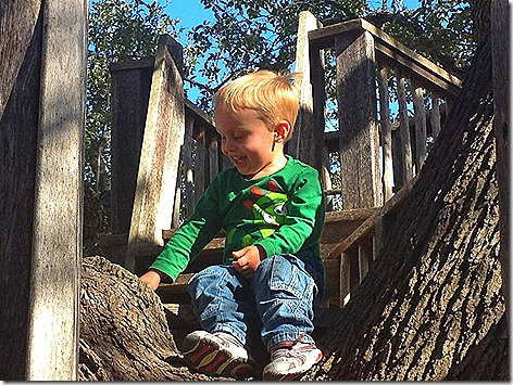 Landon on Gina's Treehouse 4