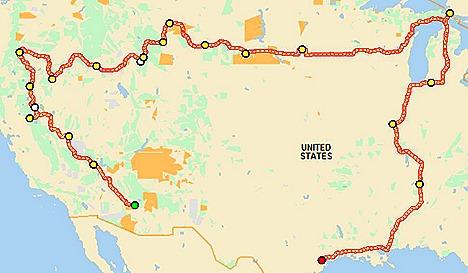 2013 Trip Map