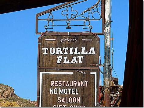 Tortilla Flat Sign
