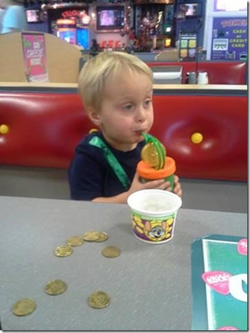 Landon at Chuck E Cheese