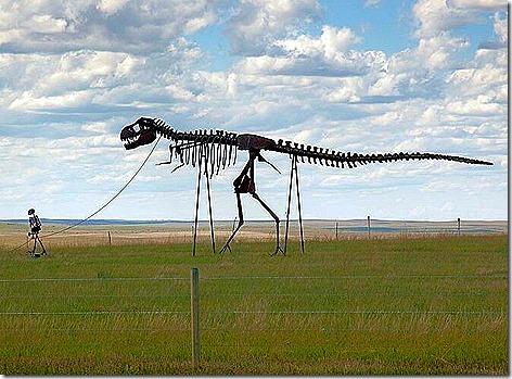Dinosaur on a leash2