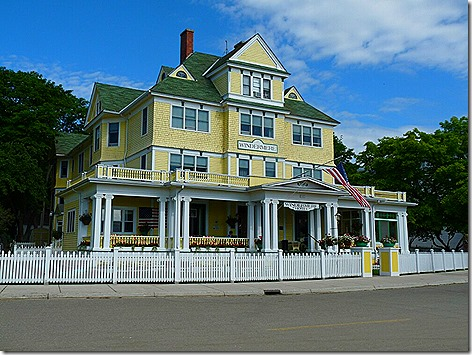 Mackinac Island Yellow House